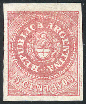 Lot 30 - Argentina escuditos -  Guillermo Jalil - Philatino  Auction #1826 ARGENTINA: Mini-Winter Auction