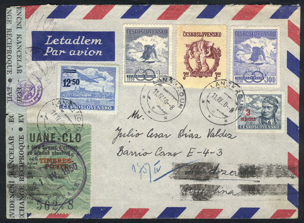 Lot 480 - Czechoslovakia postal history -  Guillermo Jalil - Philatino  Auction #1828 WORLDWIDE + ARGENTINA: General Winter auction