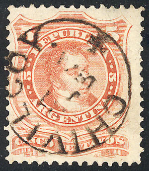 Lot 62 - Argentina general issues -  Guillermo Jalil - Philatino  Auction #1829 ARGENTINA: small but very attractive auction