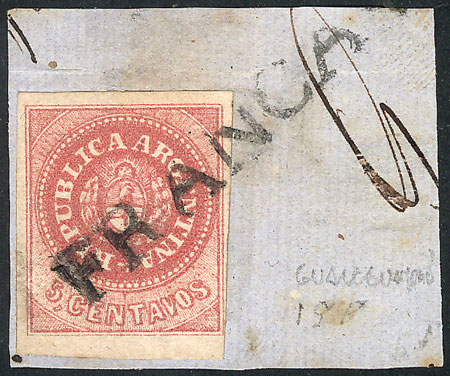 Lot 13 - Argentina escuditos -  Guillermo Jalil - Philatino  Auction #1829 ARGENTINA: small but very attractive auction