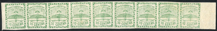 Lot 5 - Argentina confederation -  Guillermo Jalil - Philatino  Auction #1829 ARGENTINA: small but very attractive auction