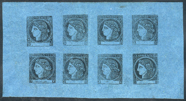 Lot 4 - Argentina corrientes -  Guillermo Jalil - Philatino  Auction #1829 ARGENTINA: small but very attractive auction