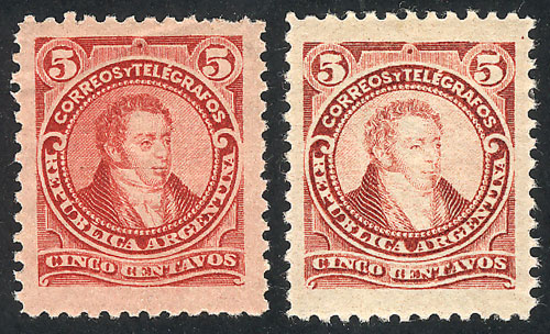Lot 95 - Argentina general issues -  Guillermo Jalil - Philatino  Auction #1829 ARGENTINA: small but very attractive auction