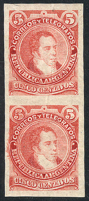 Lot 93 - Argentina general issues -  Guillermo Jalil - Philatino  Auction #1829 ARGENTINA: small but very attractive auction