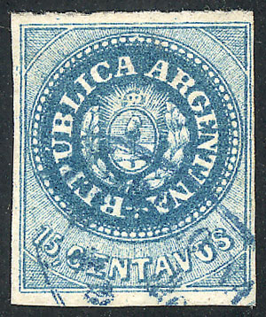 Lot 9 - Argentina escuditos -  Guillermo Jalil - Philatino  Auction #1829 ARGENTINA: small but very attractive auction