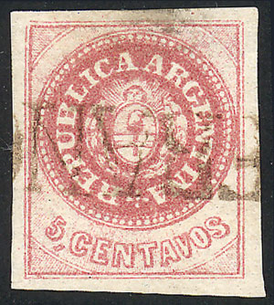 Lot 18 - Argentina escuditos -  Guillermo Jalil - Philatino  Auction #1829 ARGENTINA: small but very attractive auction