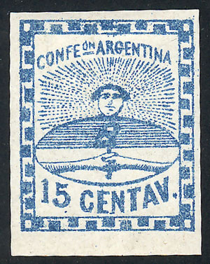 Lot 6 - Argentina confederation -  Guillermo Jalil - Philatino  Auction #1829 ARGENTINA: small but very attractive auction
