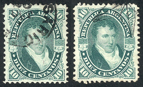 Lot 63 - Argentina general issues -  Guillermo Jalil - Philatino  Auction #1829 ARGENTINA: small but very attractive auction