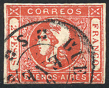 Lot 10 - Argentina cabecitas -  Guillermo Jalil - Philatino  Auction #1830 ARGENTINA: