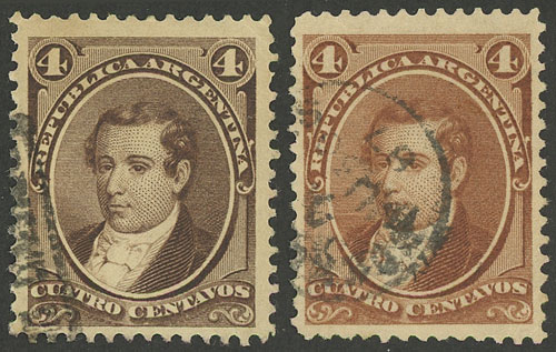 Lot 1 - Argentina general issues -  Guillermo Jalil - Philatino  Auction #1842 ARGENTINA: Selection of rare stamps and interesting varieties!