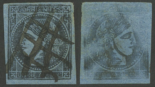 Lot 14 - Argentina corrientes -  Guillermo Jalil - Philatino  Auction #1903 ARGENTINA: 'Budget' auction with lots of interesting items at very low starts!