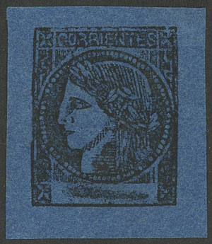 Lot 19 - Argentina corrientes -  Guillermo Jalil - Philatino  Auction #1903 ARGENTINA: 'Budget' auction with lots of interesting items at very low starts!