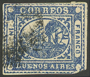 Lot 3 - Argentina buenos aires -  Guillermo Jalil - Philatino  Auction #1903 ARGENTINA: 'Budget' auction with lots of interesting items at very low starts!