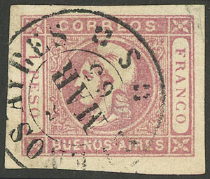 Lot 9 - Argentina buenos aires -  Guillermo Jalil - Philatino  Auction #1903 ARGENTINA: 'Budget' auction with lots of interesting items at very low starts!