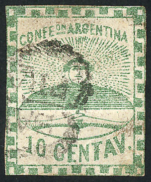 Lot 25 - Argentina confederation -  Guillermo Jalil - Philatino  Auction #1903 ARGENTINA: 'Budget' auction with lots of interesting items at very low starts!