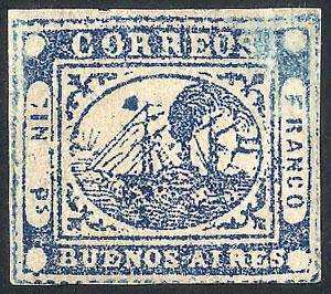 Lot 1 - Argentina barquitos -  Guillermo Jalil - Philatino Auction # 1905  ARGENTINA: