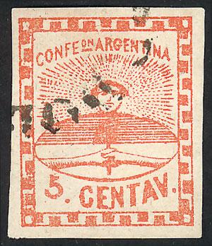 Lot 9 - Argentina confederation -  Guillermo Jalil - Philatino