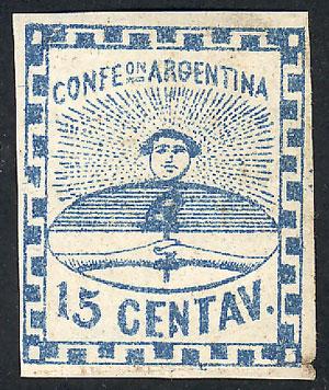 Lot 12 - Argentina confederation -  Guillermo Jalil - Philatino