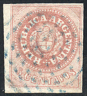 Lot 17 - Argentina escuditos -  Guillermo Jalil - Philatino Auction # 1905  ARGENTINA: