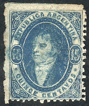 Lot 23 - Argentina rivadavias -  Guillermo Jalil - Philatino Auction # 1905  ARGENTINA: