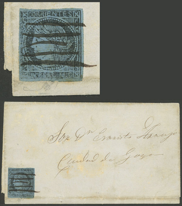 Lot 10 - Argentina corrientes -  Guillermo Jalil - Philatino Auction # 1906 ARGENTINA: small February auction with very interesting lots!