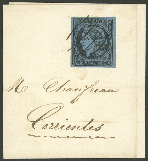 Lot 9 - Argentina corrientes -  Guillermo Jalil - Philatino Auction # 1906 ARGENTINA: small February auction with very interesting lots!
