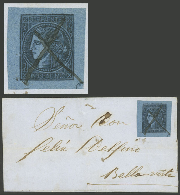 Lot 12 - Argentina corrientes -  Guillermo Jalil - Philatino Auction # 1906 ARGENTINA: small February auction with very interesting lots!