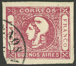 Lot 7 - Argentina cabecitas -  Guillermo Jalil - Philatino Auction # 1906 ARGENTINA: small February auction with very interesting lots!