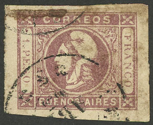 Lot 8 - Argentina cabecitas -  Guillermo Jalil - Philatino Auction # 1906 ARGENTINA: small February auction with very interesting lots!