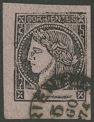 Lot 66 - Argentina corrientes -  Guillermo Jalil - Philatino Auction # 1908 ARGENTINA: