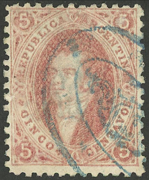 Lot 25 - Argentina rivadavias -  Guillermo Jalil - Philatino Auction # 1909 ARGENTINA: small sale with very interesting lots!