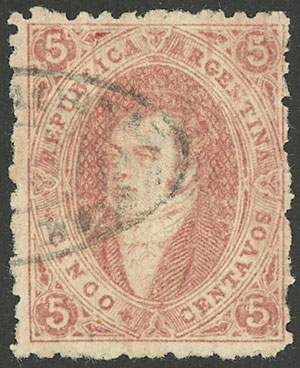 Lot 23 - Argentina rivadavias -  Guillermo Jalil - Philatino Auction # 1909 ARGENTINA: small sale with very interesting lots!