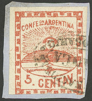Lot 8 - Argentina confederation -  Guillermo Jalil - Philatino Auction # 1909 ARGENTINA: small sale with very interesting lots!