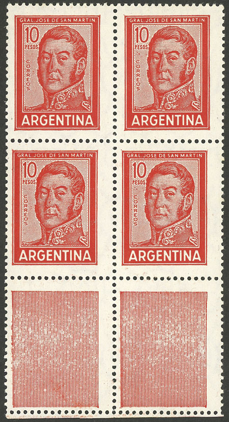 Lot 141 - Argentina general issues -  Guillermo Jalil - Philatino Auction # 1909 ARGENTINA: small sale with very interesting lots!