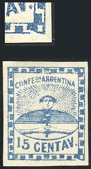 Lot 9 - Argentina confederation -  Guillermo Jalil - Philatino