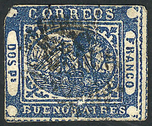 Lot 2 - Argentina barquitos -  Guillermo Jalil - Philatino Auction # 1909 ARGENTINA: small sale with very interesting lots!
