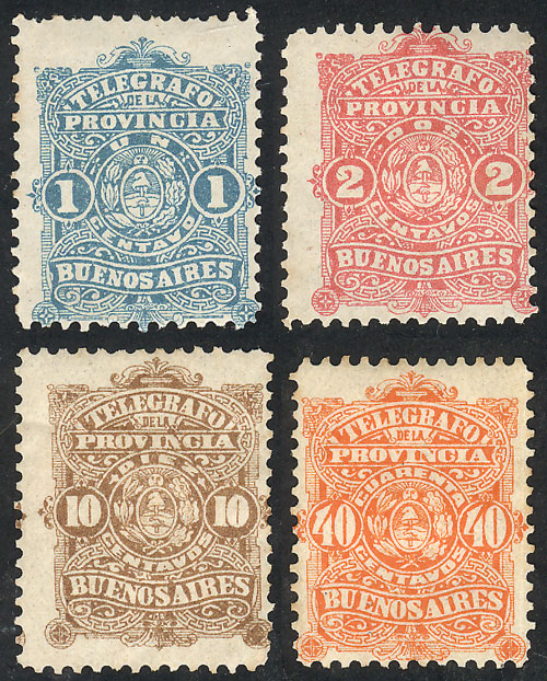 Lot 147 - Argentina telegraph stamps -  Guillermo Jalil - Philatino