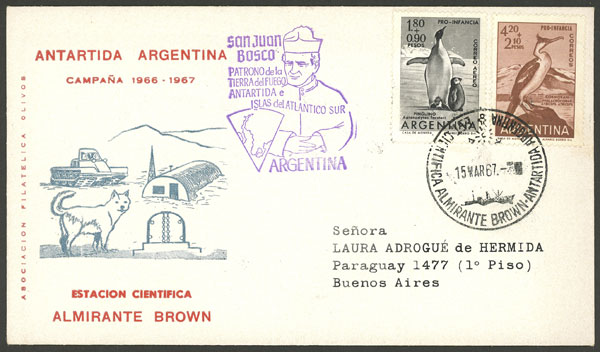 Lot 2 - argentine antarctica postal history -  Guillermo Jalil - Philatino Auction # 1910 ARGENTINA: