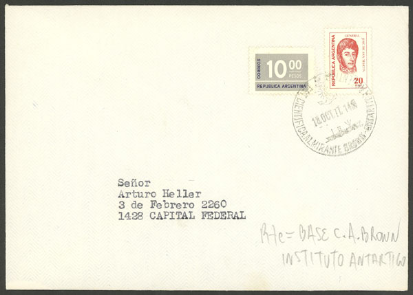 Lot 9 - argentine antarctica postal history -  Guillermo Jalil - Philatino Auction # 1910 ARGENTINA: