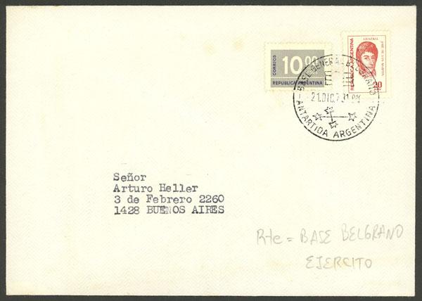 Lot 15 - argentine antarctica postal history -  Guillermo Jalil - Philatino Auction # 1910 ARGENTINA: