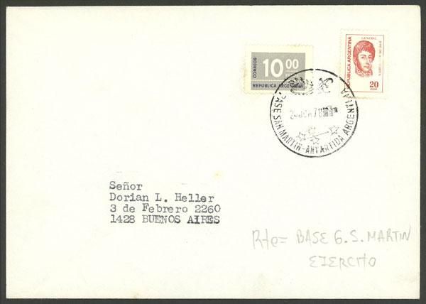 Lot 12 - argentine antarctica postal history -  Guillermo Jalil - Philatino Auction # 1910 ARGENTINA: