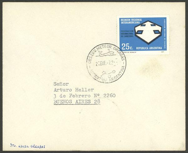 Lot 4 - argentine antarctica postal history -  Guillermo Jalil - Philatino Auction # 1910 ARGENTINA: