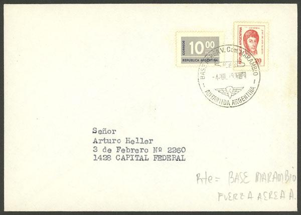 Lot 13 - argentine antarctica postal history -  Guillermo Jalil - Philatino Auction # 1910 ARGENTINA: