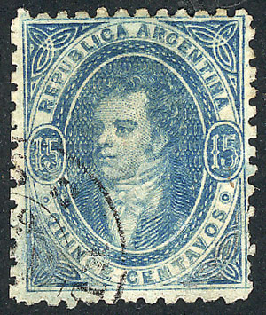 Lot 72 - Argentina rivadavias -  Guillermo Jalil - Philatino Auction # 1910 ARGENTINA:
