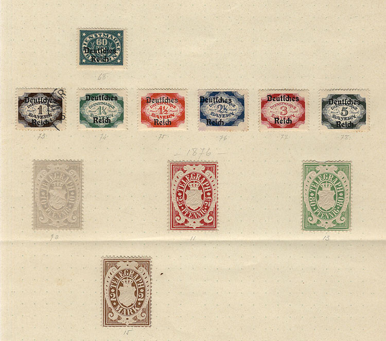 Lot 8 - germany Bayern -  Guillermo Jalil - Philatino Auction # 1911 WORLDWIDE + ARGENTINA: General March auction!