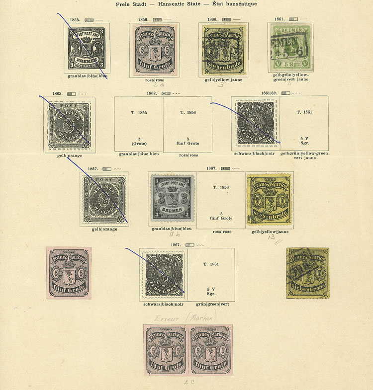 Lot 9 - germany BRAUNSCHWEIG-BREMEN++ -  Guillermo Jalil - Philatino Auction # 1911 WORLDWIDE + ARGENTINA: General March auction!