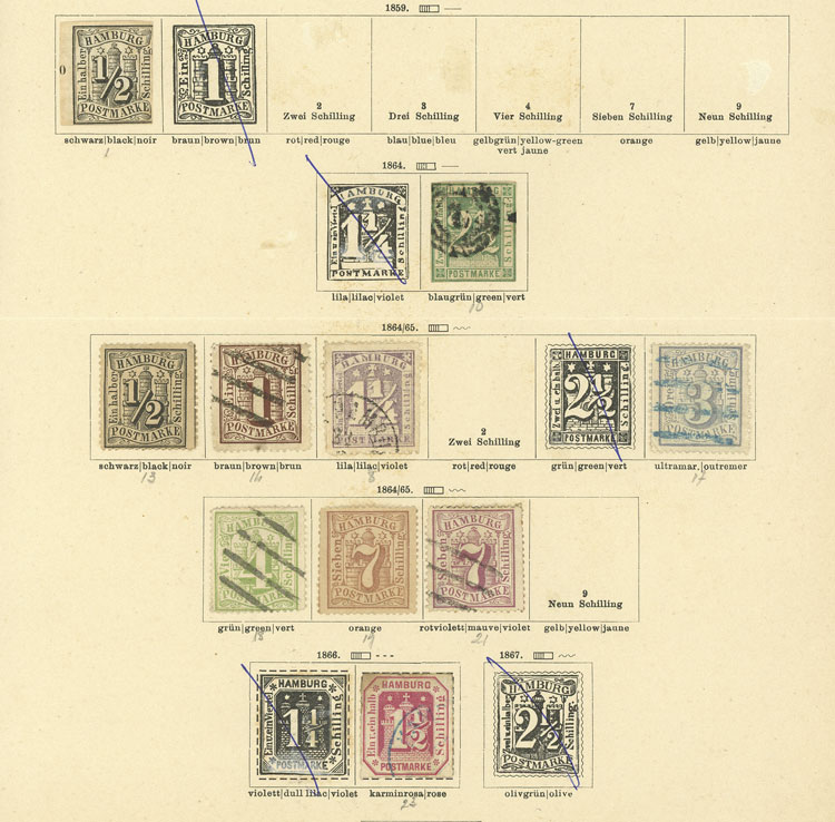 Lot 12 - germany hamburg -  Guillermo Jalil - Philatino Auction # 1911 WORLDWIDE + ARGENTINA: General March auction!