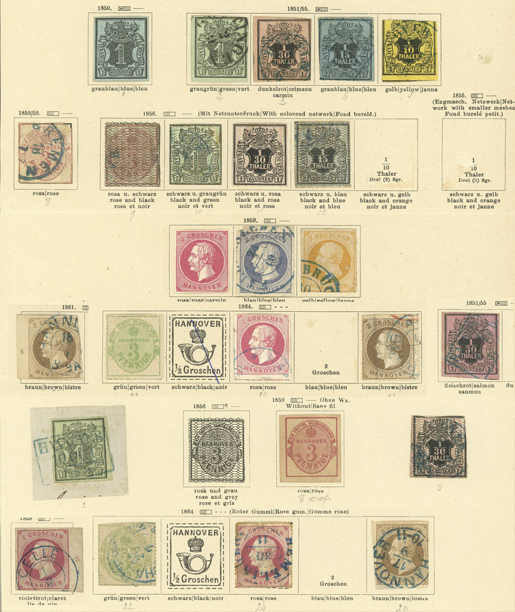Lot 13 - germany hannover -  Guillermo Jalil - Philatino Auction # 1911 WORLDWIDE + ARGENTINA: General March auction!