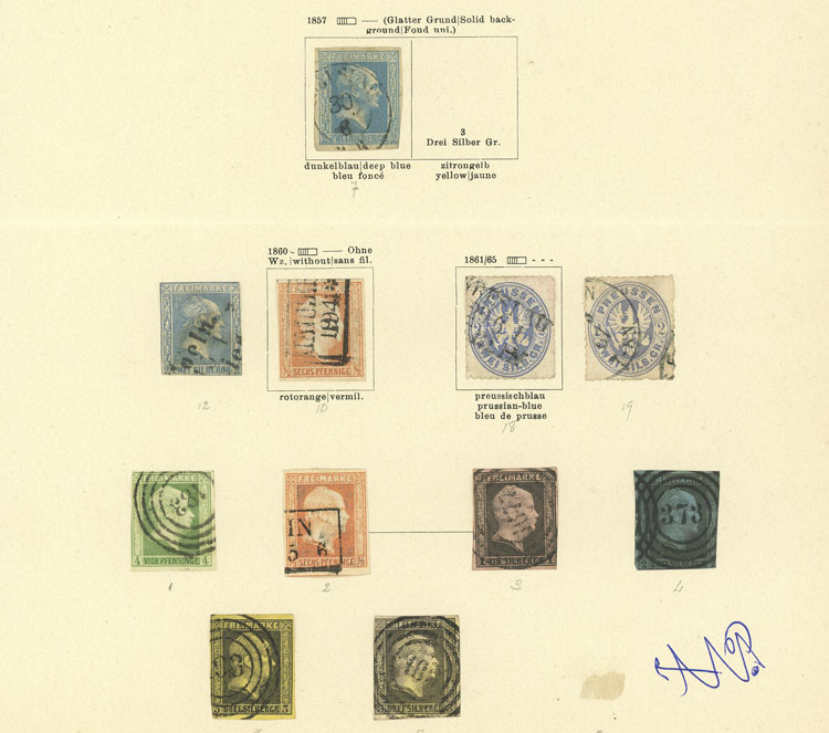 Lot 14 - germany prussia -  Guillermo Jalil - Philatino Auction # 1911 WORLDWIDE + ARGENTINA: General March auction!