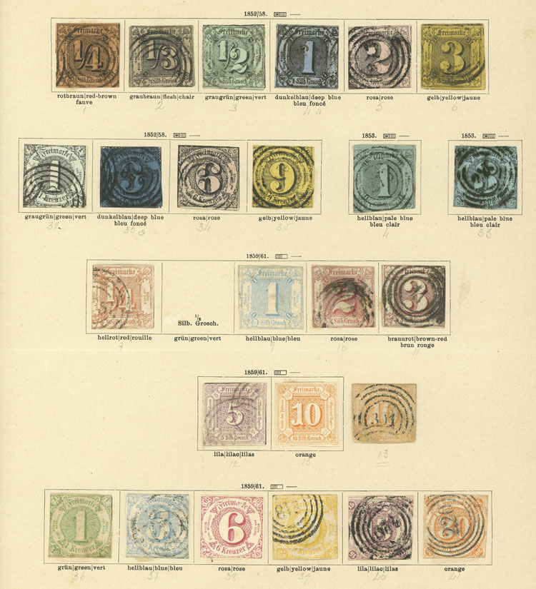 Lot 15 - germany thurn and taxis -  Guillermo Jalil - Philatino Auction # 1911 WORLDWIDE + ARGENTINA: General March auction!